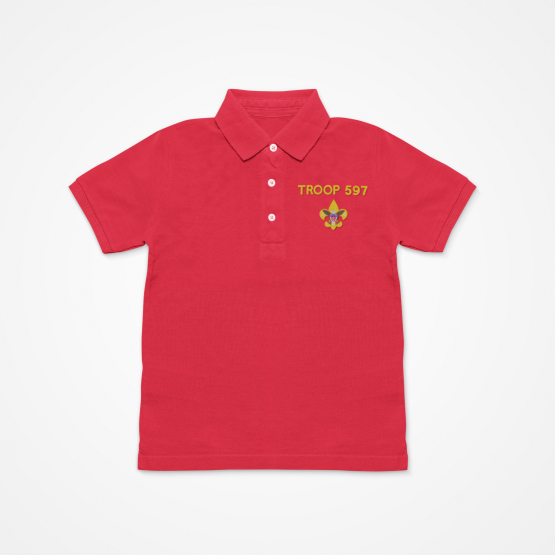 Troop 597 Red Polo