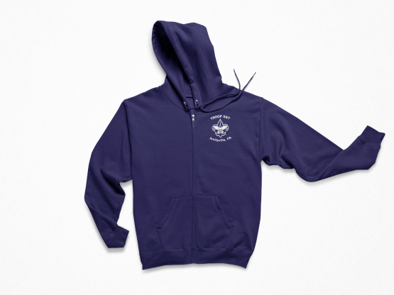 Troop 597 Zip Up Hooded Sweatshirt