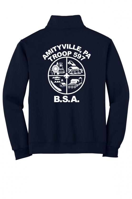 Troop 597 1/4 Zip Sweatshirt
